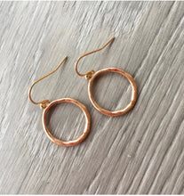 Hammered Hoop Drop Earrings