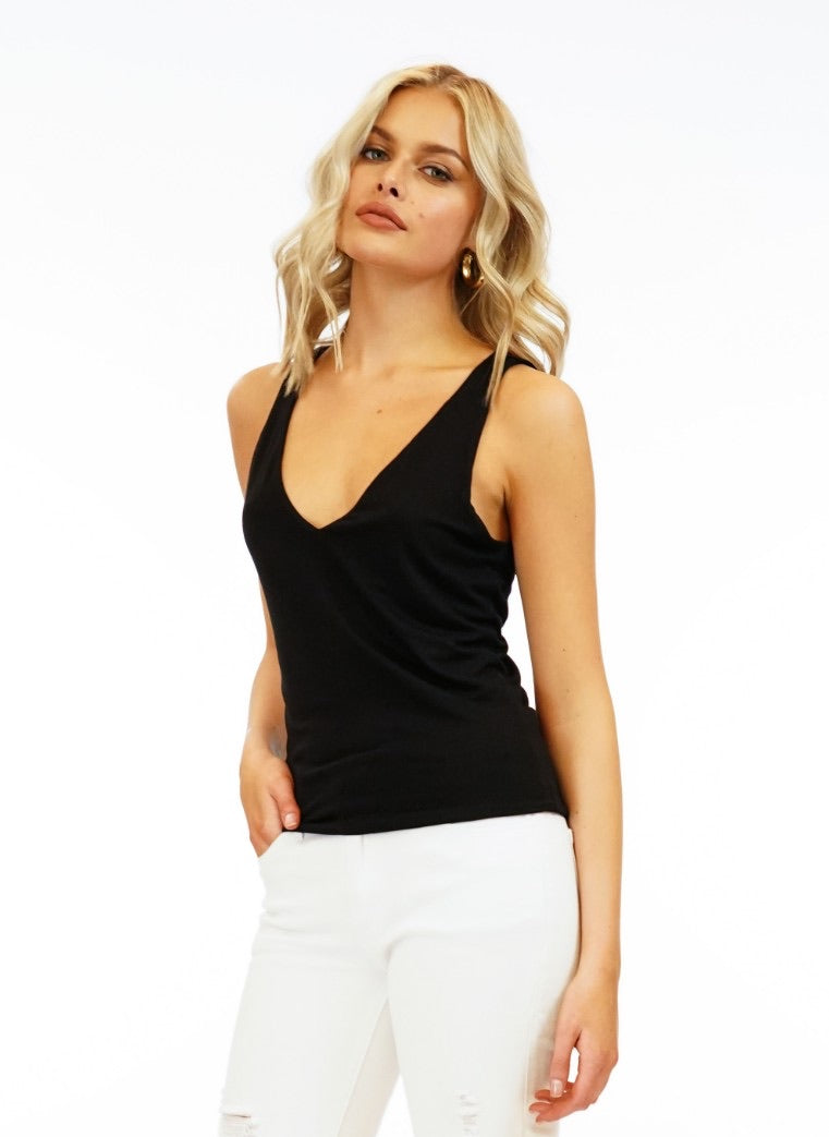 Francis Fitted V-Neck Tank