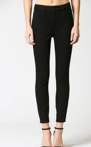 Jet Black Clean High Rise Skinny Jeans