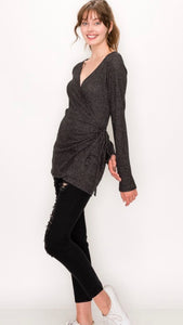 Bella Brushed Rib Wrap Cardigan