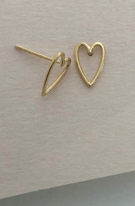Tiny Open Heart Studs