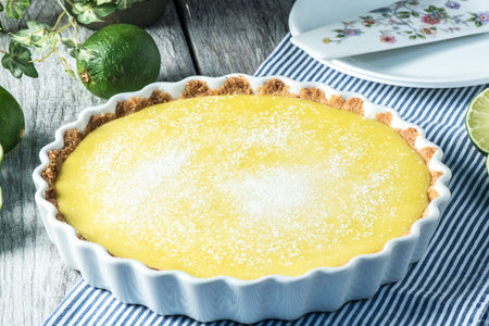 Keto Lime Curd Tart is an easy and delicious dessert for your Keto lifestyle