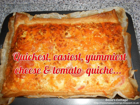 Blogtober Day 9: Quickest, Easiest, Yummiest Cheese & Tomato Quiche
