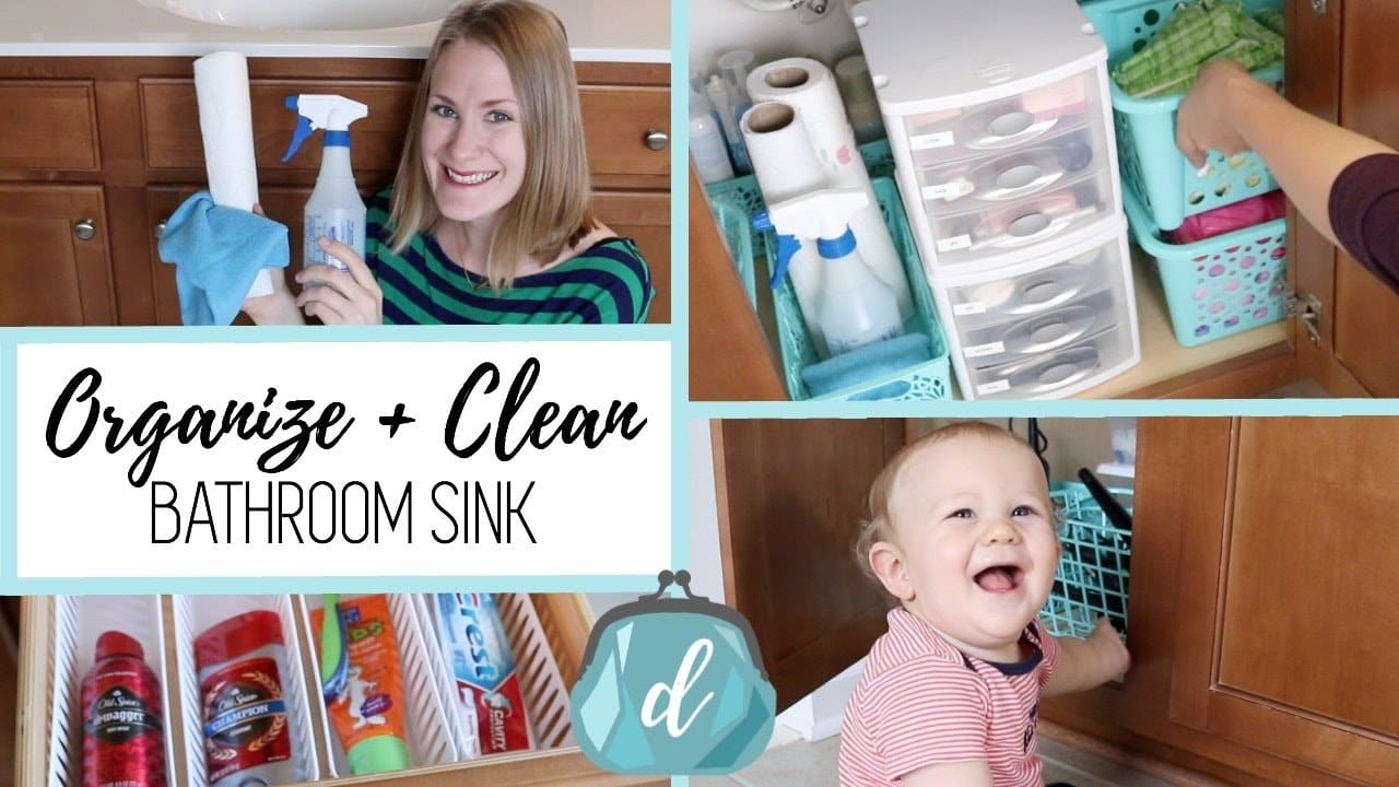 Organize and Clean with me! In this video I share some spring cleaning tips and my whole process for organizing under our bathroom sink