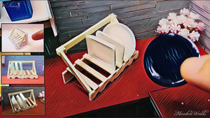 Miniature Dish rack - mini Dish rack DIYMiniature Dish rack - mini Dish rack How to make Miniature Dish rack - mini Dish rack How to make Miniature Kitchen ...