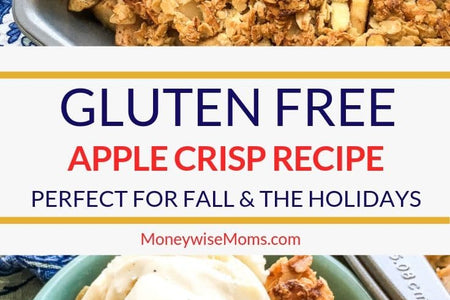 This delicious apple crisp recipe is gluten free, but you can also make it with regular flour if you like! It's a great dessert and is perfect for parties and family gatherings