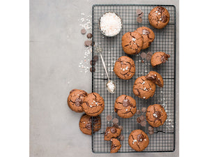 "In the mood for a sweet treat? ""These chewy salted caramel and chocolate cookies are delicious with a cuppa or warmed and crumbled over ice cream"