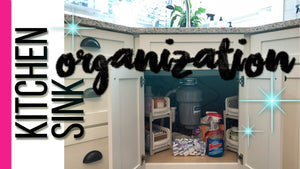 Come along with me as I organize my mess of a kitchen sink cabinet