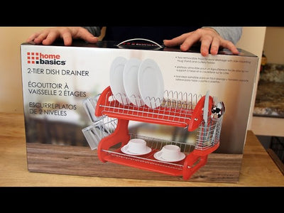 Unboxing, assembly and demo/review of the Home BASICS 2 TIER DISH DRAINER RED Dish DrainerHERE: