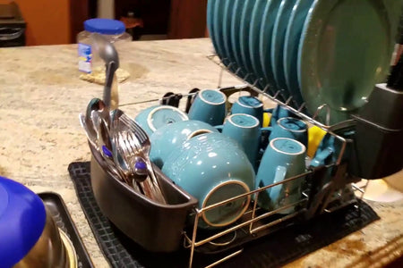 This Premium Racks dish rack is a really nice compact rack that holds a lot of dishes