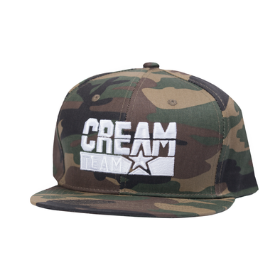 Cream Team Camo Snapback (White)
