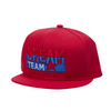 Cream Team Red Snapback (Red/Blue)