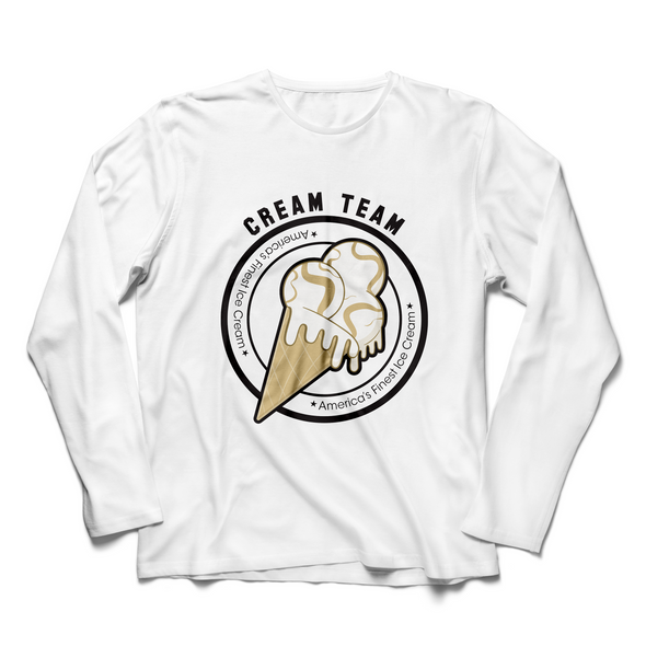 Cream Team Ice Cream White Long Sleeve