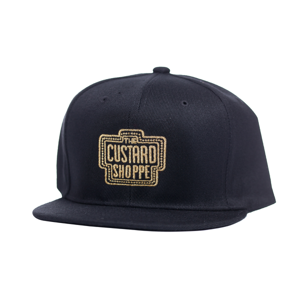 The Custard Shoppe Black Snapback (Gold)