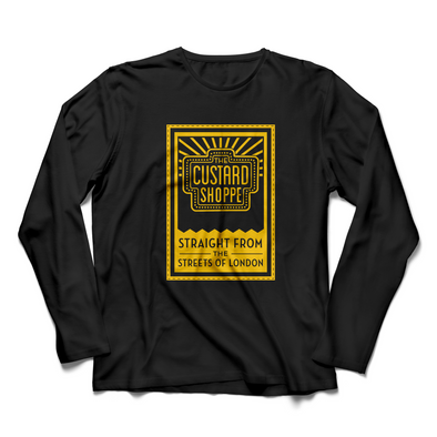 The Custard Shoppe Tag Black Long Sleeve