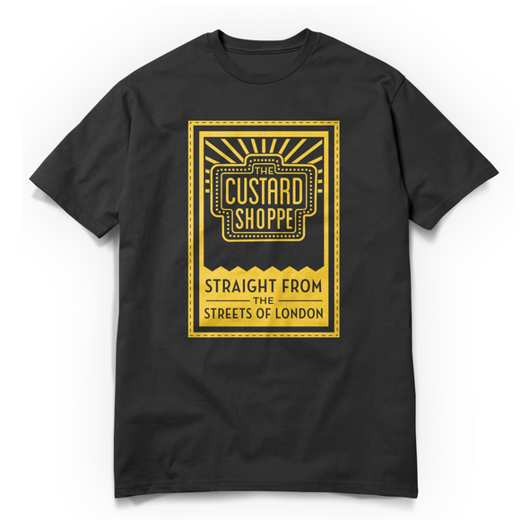 The Custard Shoppe Tag Black Tee