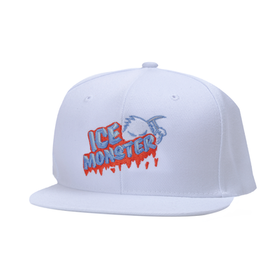 Ice Monster White Snapback (Mangerine)