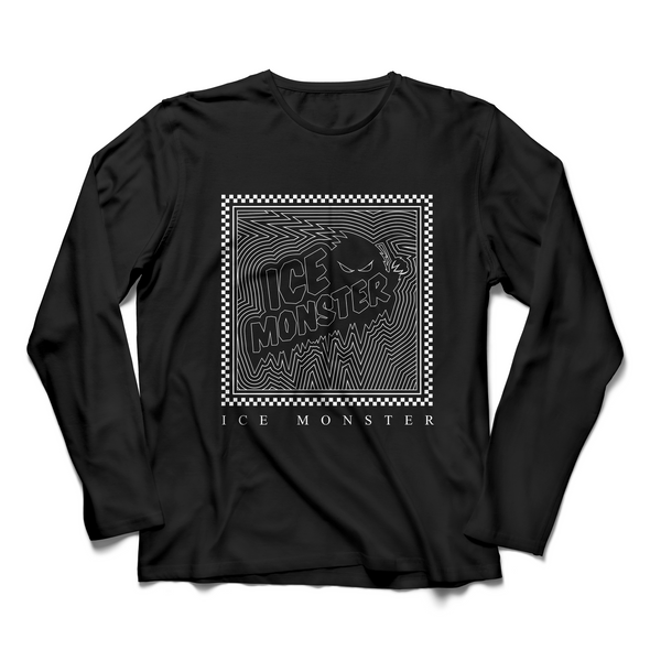 Ice Monster Black Moire Long Sleeve