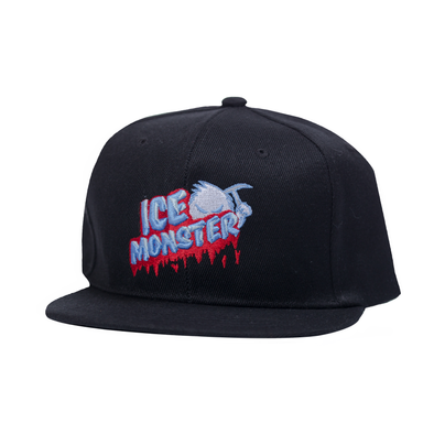 Ice Monster Black Snapback (Strawmelon)