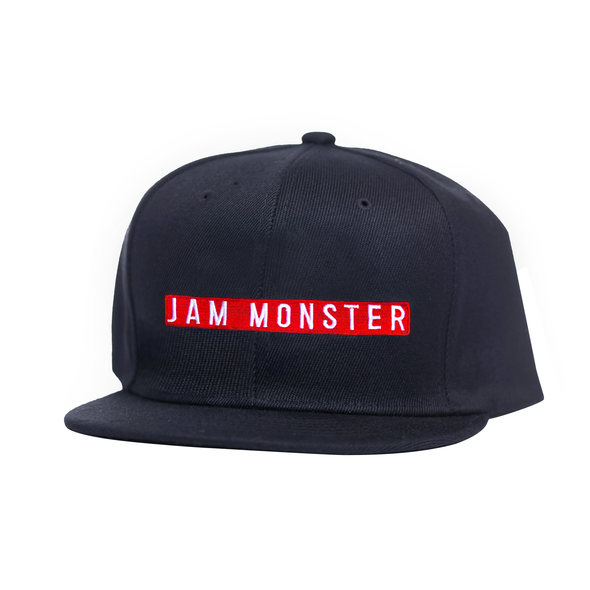 Jam Monster Label Black Snapback