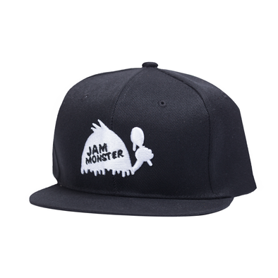 Jam Monster Drip Guy Black Snapback (B&W)