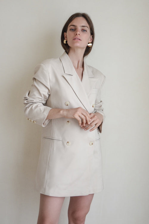 Nude Grandad Blazer Dress