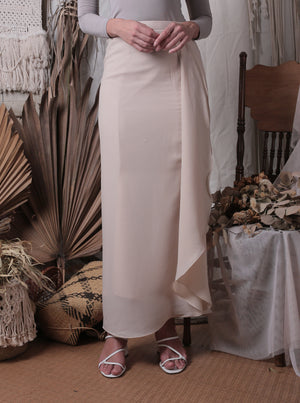 Ayla Waterfall Skirt (Cream)