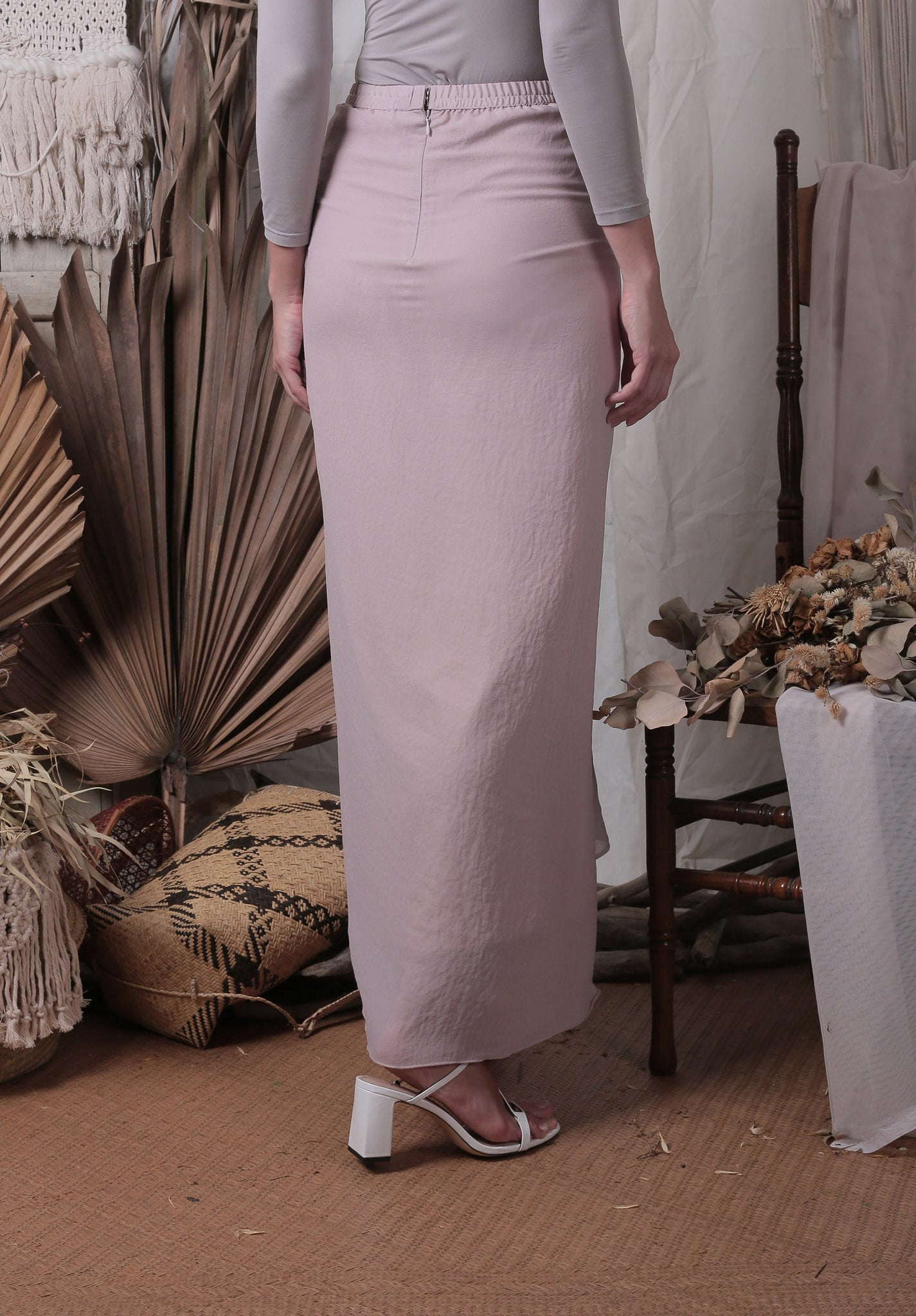Ayla Waterfall Skirt (Dusty Pink)