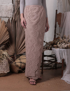 Bella Scallop Skirt (Brown)