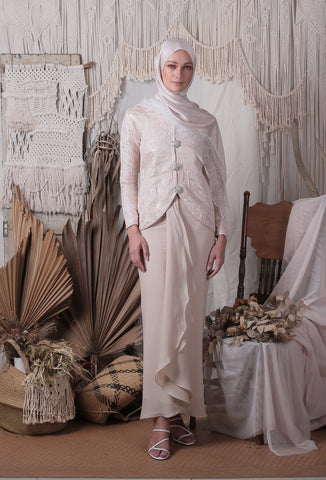 Giana Kebaya Top (Dusty Pink)