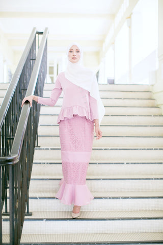 Marilyn Kurung (Dusty Pink)