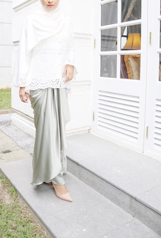 Alexa Skirt (Metallic Grey)