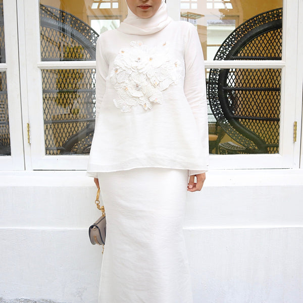 Renee Kurung (White)