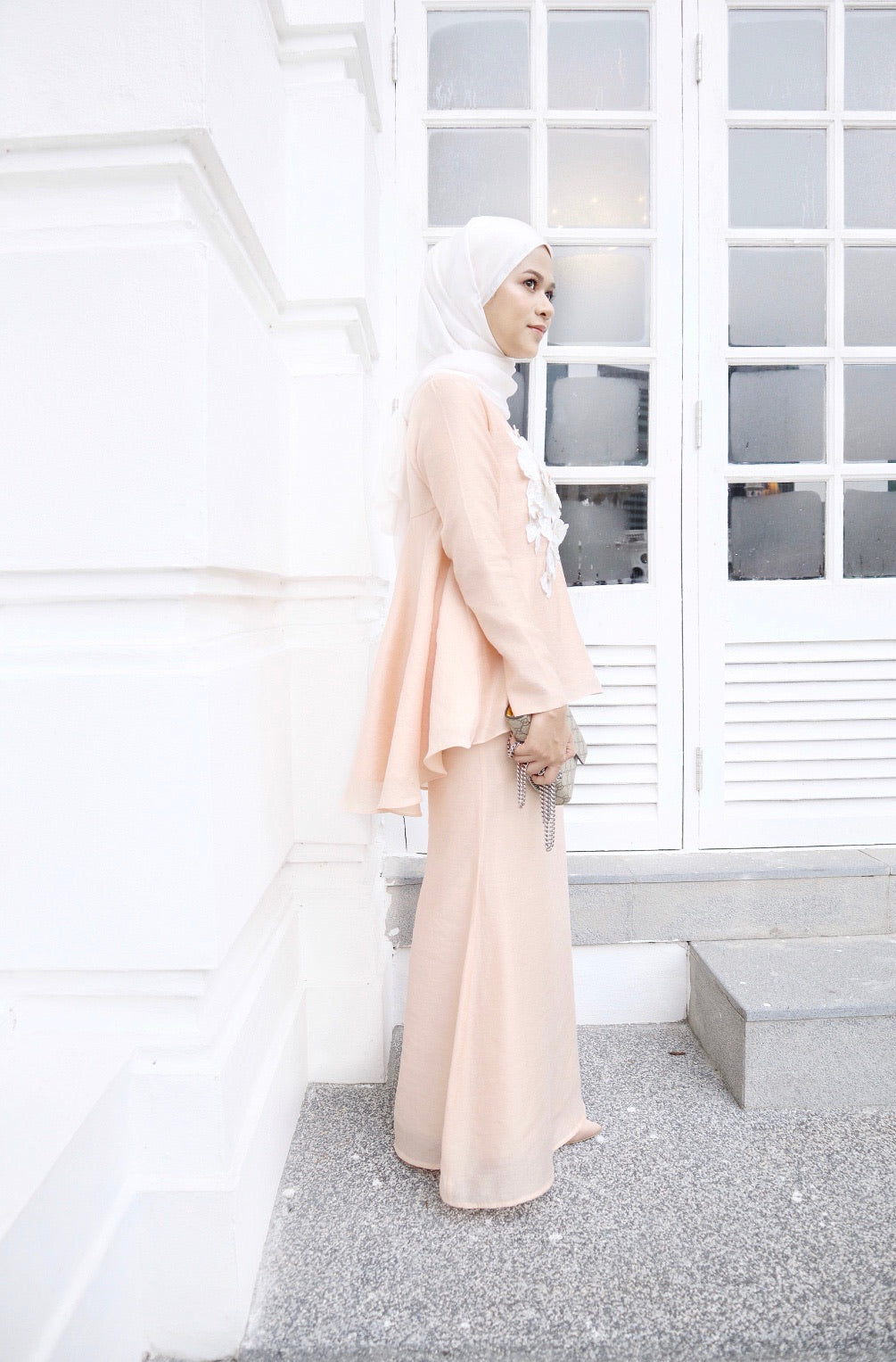 Renee Kurung (Light Peach)