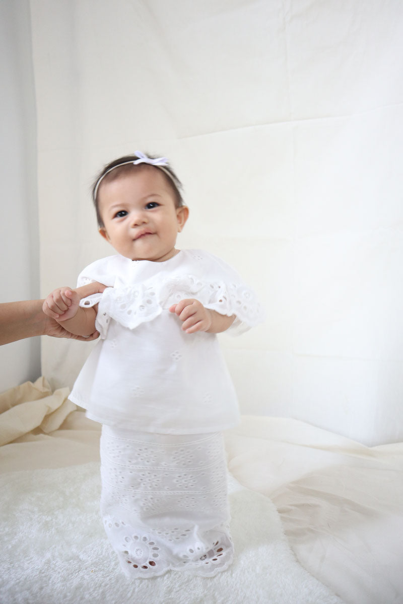 Lucy Kurung- Kids (White)