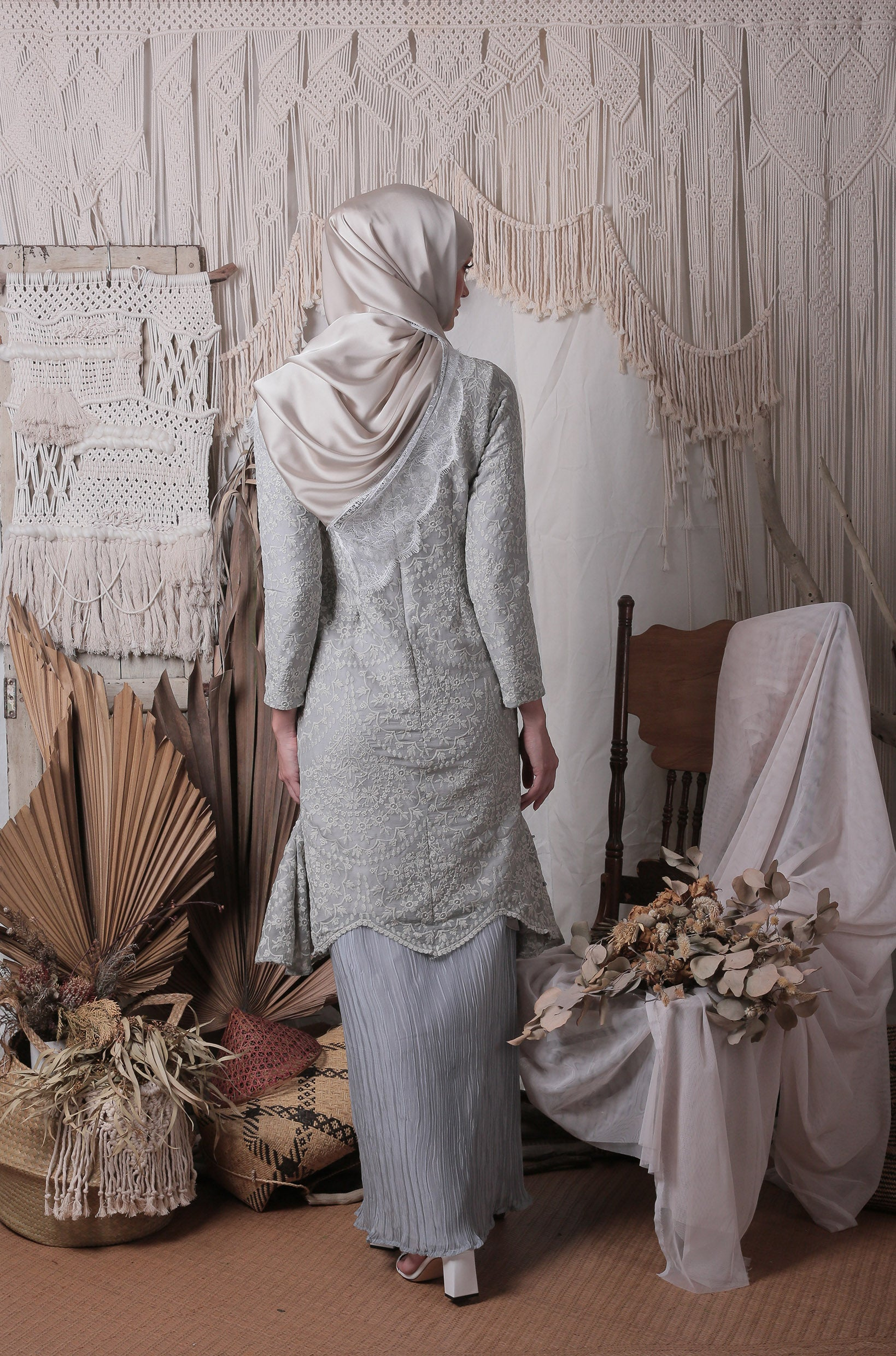 Katherine Long Kurung (Seagrass)