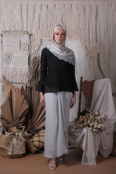Louisa Kebaya Top (Black)