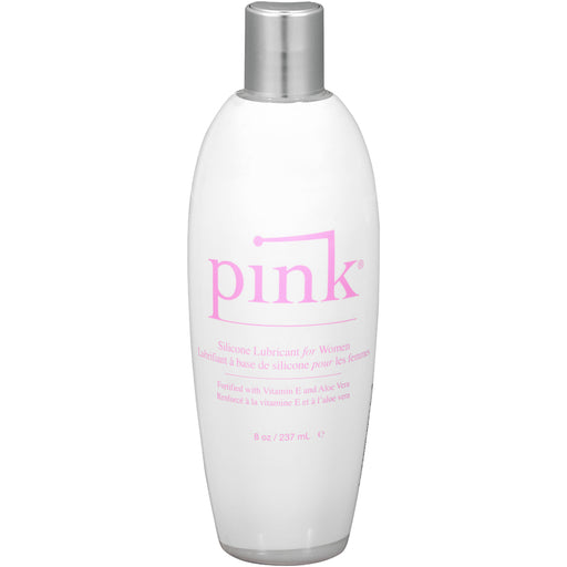 Pink Silicone Lubricant for Women - 8 Oz Flip Top  Bottle PNK-8