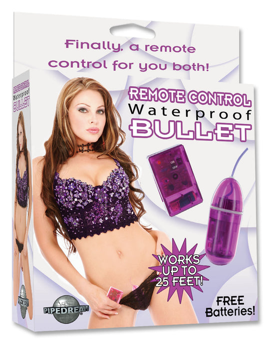 Waterproof Remote Control Bullet - Purple PD2670-12