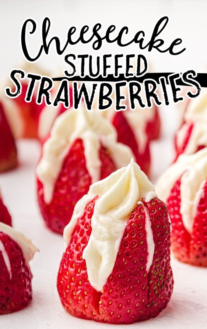 These delicious bite-sized cheesecake stuffed strawberries are juicy, fruity and wonderfully sweet all at the same time