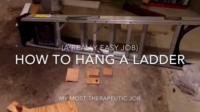 How to hang a ladder in the garage (easy job)