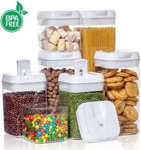 Airtight Food Storage Containers with Labels 7-Piece Set only $24!
