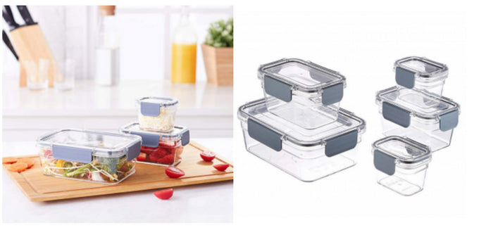 AmazonBasics Tritan 10 Piece Locking Food Storage Container Just $12.83!