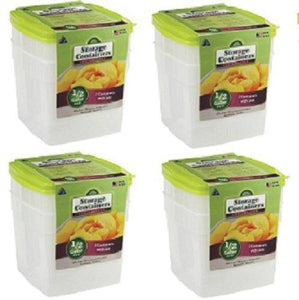 "(4) 2 packs Arrow Plastic 00045 1/2 Gallon 6""x6"" Freezer & Storage Containers"