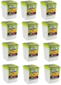 "(12) 2 packs Arrow Plastic 00045 1/2 Gallon 6""x6"" Freezer & Storage Containers"
