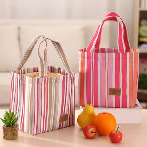Portable Drawstring Lunch Tote Bag Bento Bag Picnic Cooler Insulated Handbag Food Storage Container