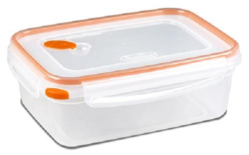 (6) ea Sterilite 03221106 Tangerine Ultra-Seal, 8.3 Cup Rectangle Food Containers
