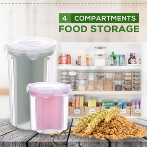 4-compartment Rotating Airtight Storage Box