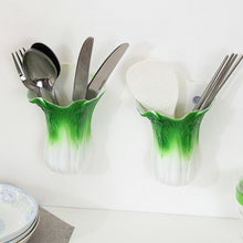 1 Pc Creative Chinese Cabbage Shape Organizer With Sucker ABS Multifunctional Chopsticks Spoon Storage Container Kitchen Gadgets