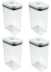 (4) ea Oxo International 1071397 POP 2-1/2 Quart Food Storage Containers